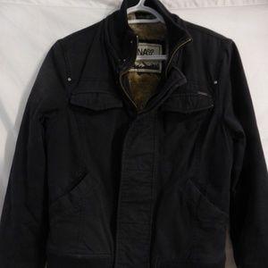 Aritzia TNA black jacket with faux fur lining